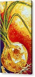 Onion Acrylic Print by Paris Wyatt Llanso