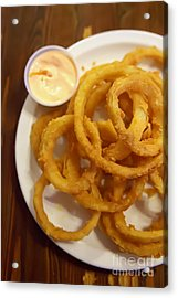 Onion Rings Acrylic Print by Kay Pickens
