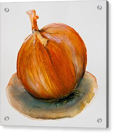 Acrylic Print featuring the painting Onion Study by Jani Freimann