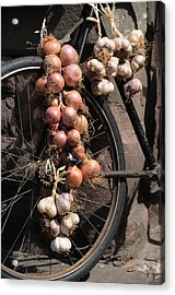 Onions And Garlic On Bike  Acrylic Print