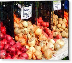 Onions And Potatoes Acrylic Print by Susan Savad