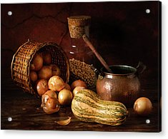 Onions And Pumpkin Acrylic Print