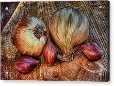 Acrylic Print featuring the painting Onions And Scallions by Sharon Beth
