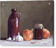 Onions And Sundried Tomatoes Acrylic Print