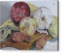 Onions Acrylic Print by Karen Olson