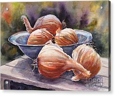 Onions Acrylic Print by Mohamed Hirji