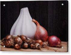Onions Acrylic Print by Tom Mc Nemar