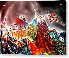 Oniric - 1 Acrylic Print by Bernard MICHEL