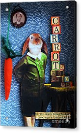 Only Carrots   Acrylic Print by Linda Apple