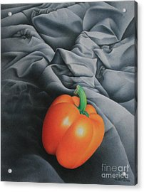 Acrylic Print featuring the painting Only Orange by Pamela Clements