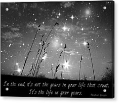 Only The Stars And Me...in The End... Acrylic Print