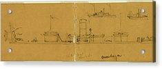 Onondaga, Drawing, 1862-1865, By Alfred R Waud Acrylic Print