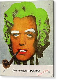 Oompa Loompa Self Portrait With Surreal Pipe Acrylic Print