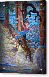 Acrylic Print featuring the painting Oooooh by Matt Konar