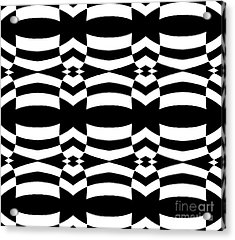 Op Art Black White Pattern No.139  Acrylic Print by Drinka Mercep