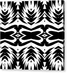 Pattern Black White No.232. Acrylic Print by Drinka Mercep