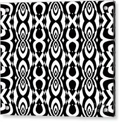 Op Art Pattern Geometric Black White Art No.338. Acrylic Print by Drinka Mercep
