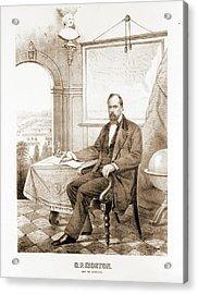O.p. Morton, Gov. Of Indiana Ehrgott, Forbriger & Co Acrylic Print