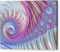 Acrylic Print featuring the digital art Opal Nautilus by Susan Maxwell Schmidt