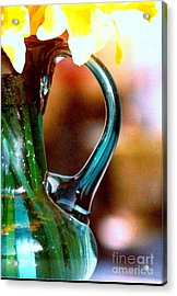 Acrylic Print featuring the photograph New Orleans Opaque Blue Green Vase by Michael Hoard