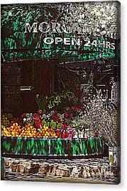 Open 24 Hours Acrylic Print by Miriam Danar