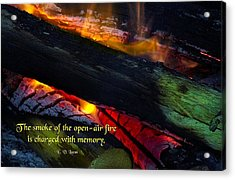 Open Air Fires Acrylic Print by Mike Flynn
