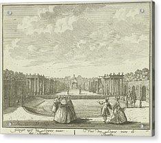 Open-air Theater In The Garden Of House Ter Meer In Maarssen Acrylic Print by Hendrik De Leth