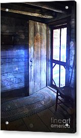 Open Cabin Door With Orbs Acrylic Print by Jill Battaglia