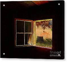 Open Cabin Window II Acrylic Print by Julie Dant