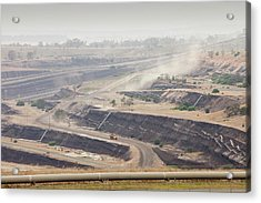 Open Cast Coal Mine Acrylic Print