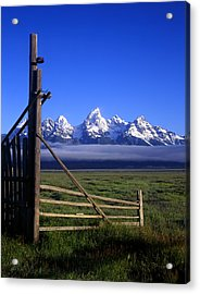 Open Gate Acrylic Print by Mike Norton