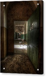 Open Green Door Acrylic Print