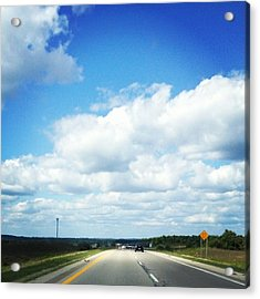 Open Road Acrylic Print by Christy Beckwith