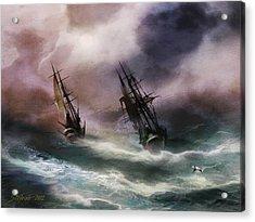 Open Sea Dangerous Drift Acrylic Print by Stefano Popovski