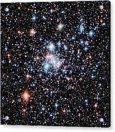 Open Star Cluster Ngc 290 Acrylic Print by E. Olszewskiu. Arizonanasaesastsci