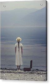 Open Suitcase Acrylic Print by Joana Kruse