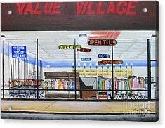 Open Til 9 Acrylic Print