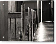 Opening Door Bw Acrylic Print