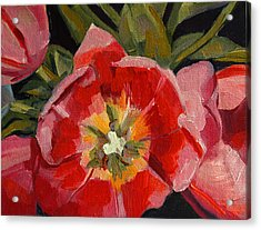 Acrylic Print featuring the painting Opening by Pattie Wall