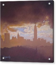 Opening To The City Acrylic Print by Harvey Rogosin