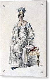Opera Dress, Fashion Plate Acrylic Print