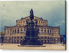 Opera House In Dresden Acrylic Print