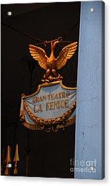 Opera Performance Acrylic Print by Jacqueline M Lewis