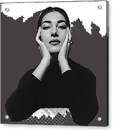 Opera Singer Maria Callas Cecil Beaton Photo No Date-2010 Acrylic Print