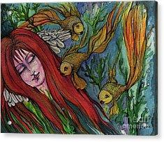 Ophelia Acrylic Print by Angel  Tarantella