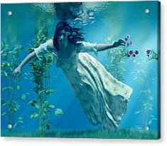 Ophelia Acrylic Print by Daniel Eskridge