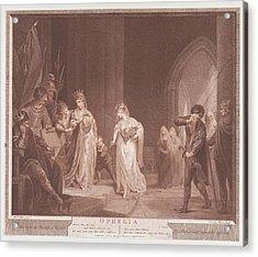 Ophelia Shakespeare, Hamlet, Act 4 Acrylic Print