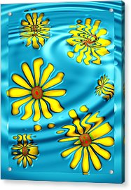 Ophelia's Daisies Acrylic Print by Wendy J St Christopher