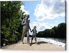 Opie And Andy Go Fishin Acrylic Print by David Arment