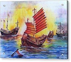 Opium War Acrylic Print by Sumit Jain